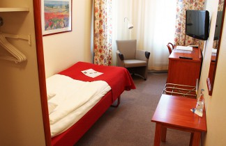 Enkelrum med 90 cm bred säng